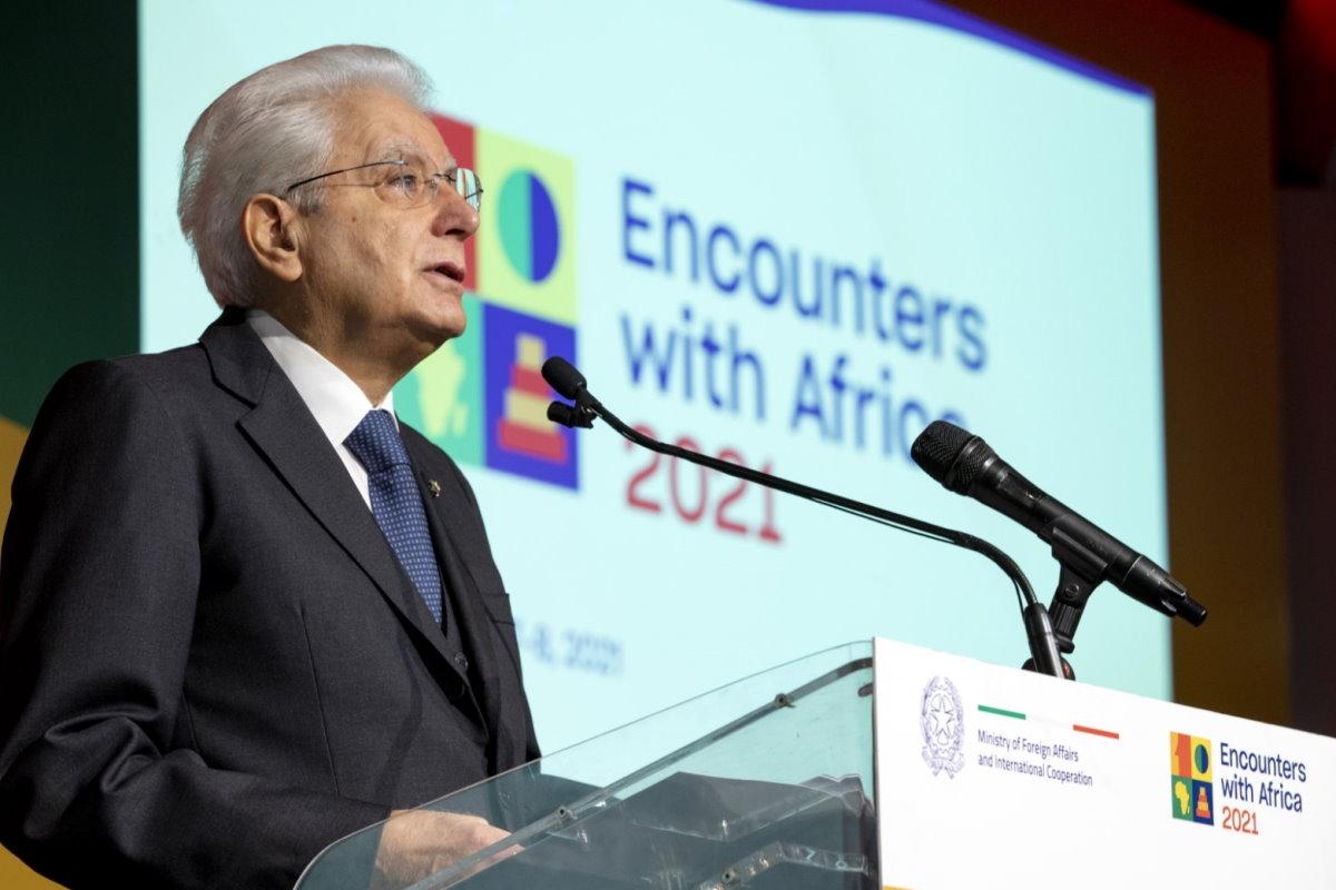 """Mattarella alla Conferenza ministeriale """"Incontri con l'Africa"""" indica la strada per una cooperazione fra Africa e Europa"""