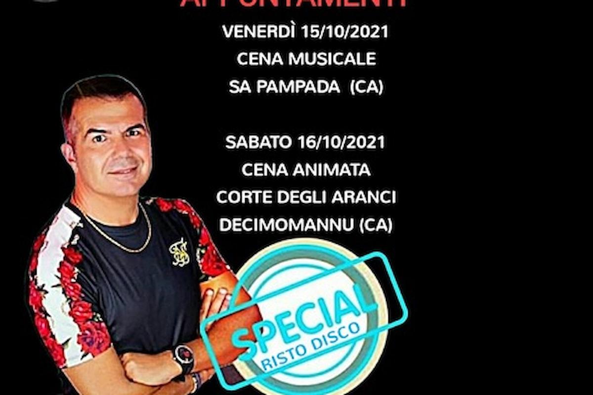 Sandro Murru Kortezman, tornano le cene animate & musicate: 15/10 Sa Pampada (CA), 16/10 Corte degli Aranci - Decimomannu (CA)