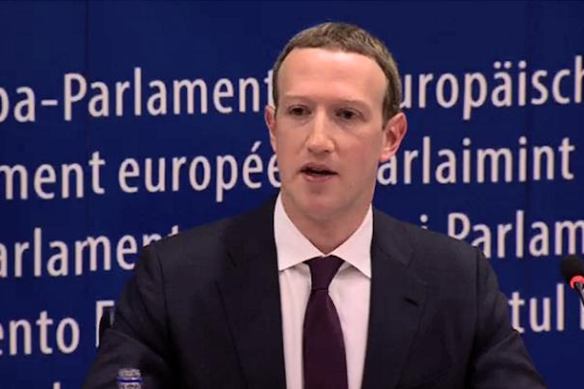 La testimonianza di Zuckerberg davanti al Parlamento Europeo