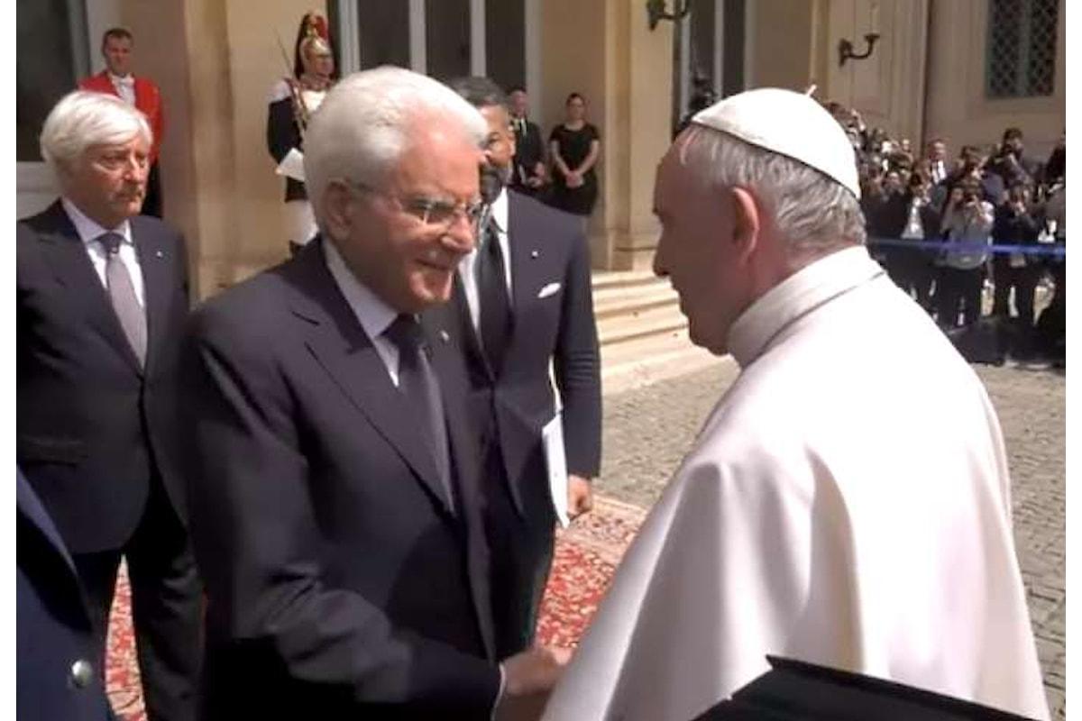 L'invito di Papa Francesco a Mattarella: una fattiva collaborazione tra Santa Sede e Italia in vista del bene comune
