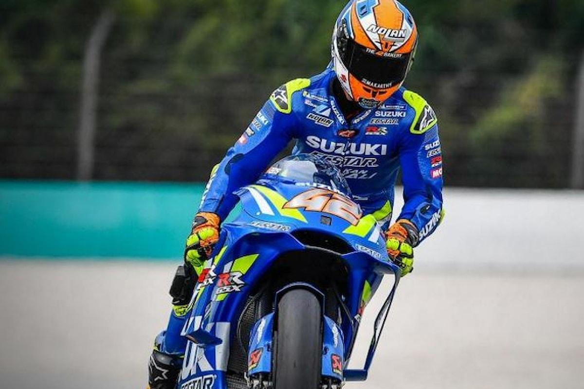 MotoGP 2018, la Suzuki di Rins la più veloce nelle libere di Sepang
