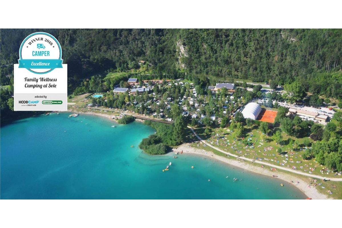I 10 migliori Campeggi per Camper del 2018: vince il Family Wellness Camping al Sole di Ledro, in Trentino-Alto Adige