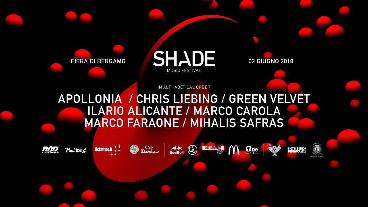 2 giugno 2018: Shade Music Festival 2018 @ Fiera di Bergamo. Sul palco: Marco Carola, Apollonia, Chris Liebing, Green Velvet...