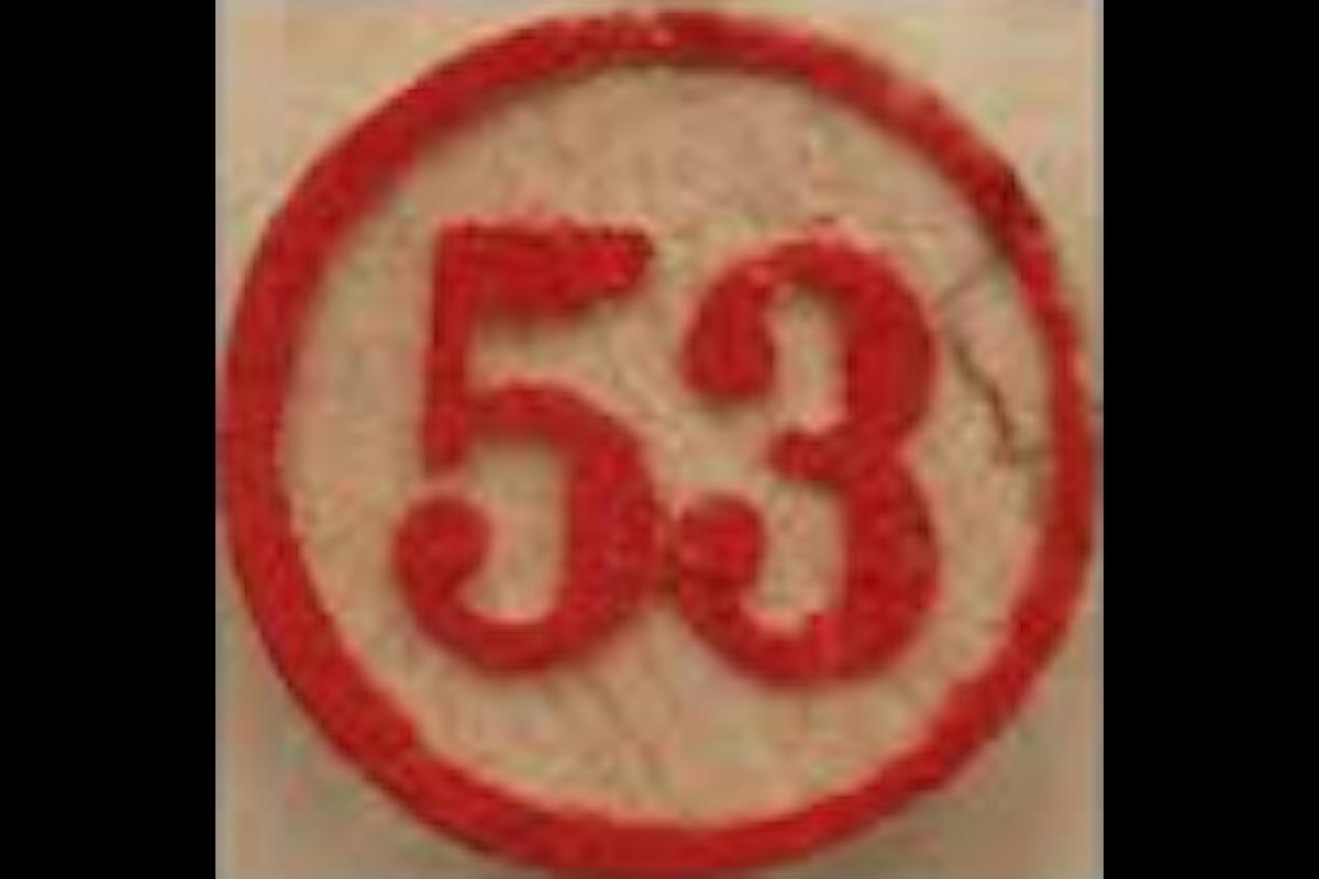 Alcune estrazioni fa è stato estratto il 53 sulla Ruota Nazionale