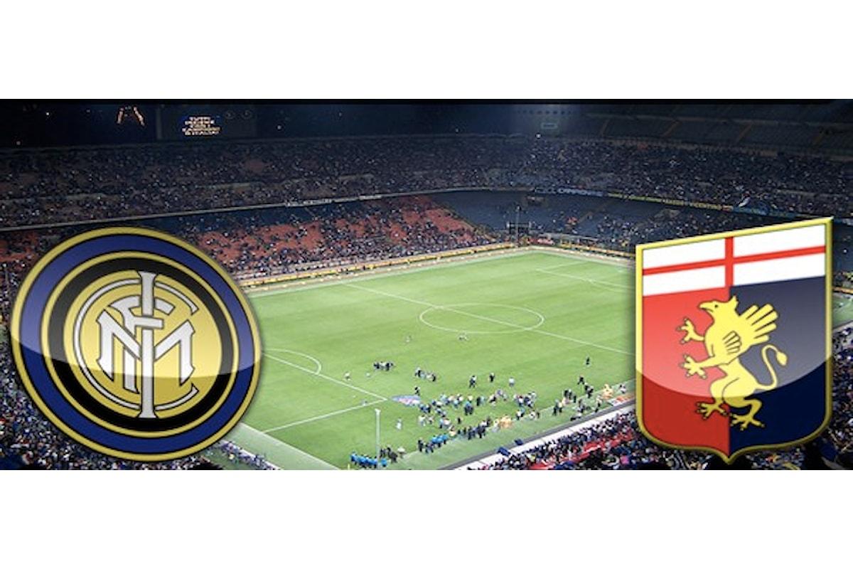 Inter-Genoa 1-0, la cronaca della gara