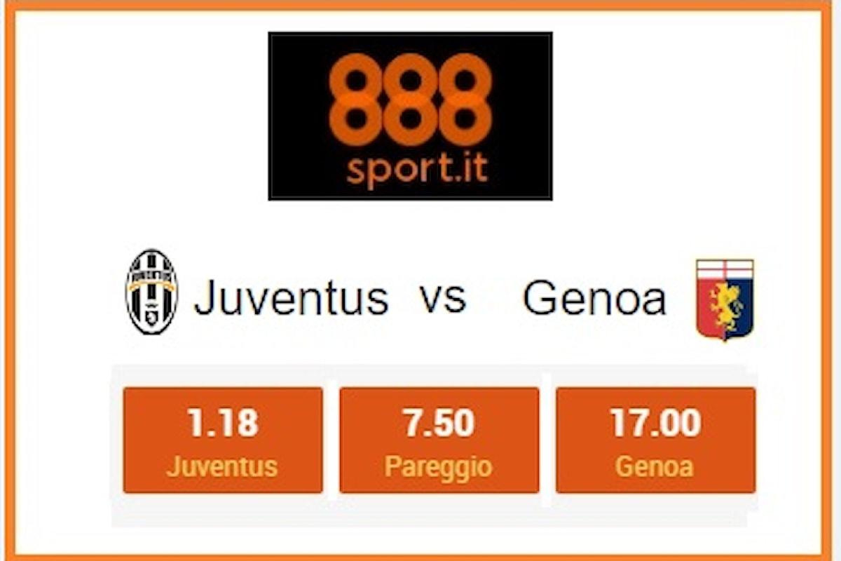Serie A - Effetto Champions per la Juve: contro il Genoa il 99% delle giocate è sui bianconeri