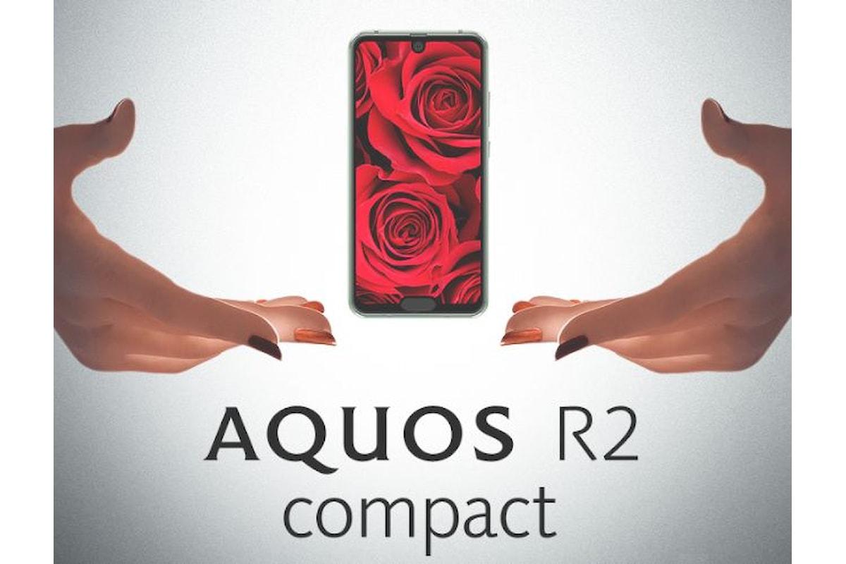 Sharp Aquos R2 Compact è uno smartphone top di gamma dalle dimensioni ridotte e con due notch