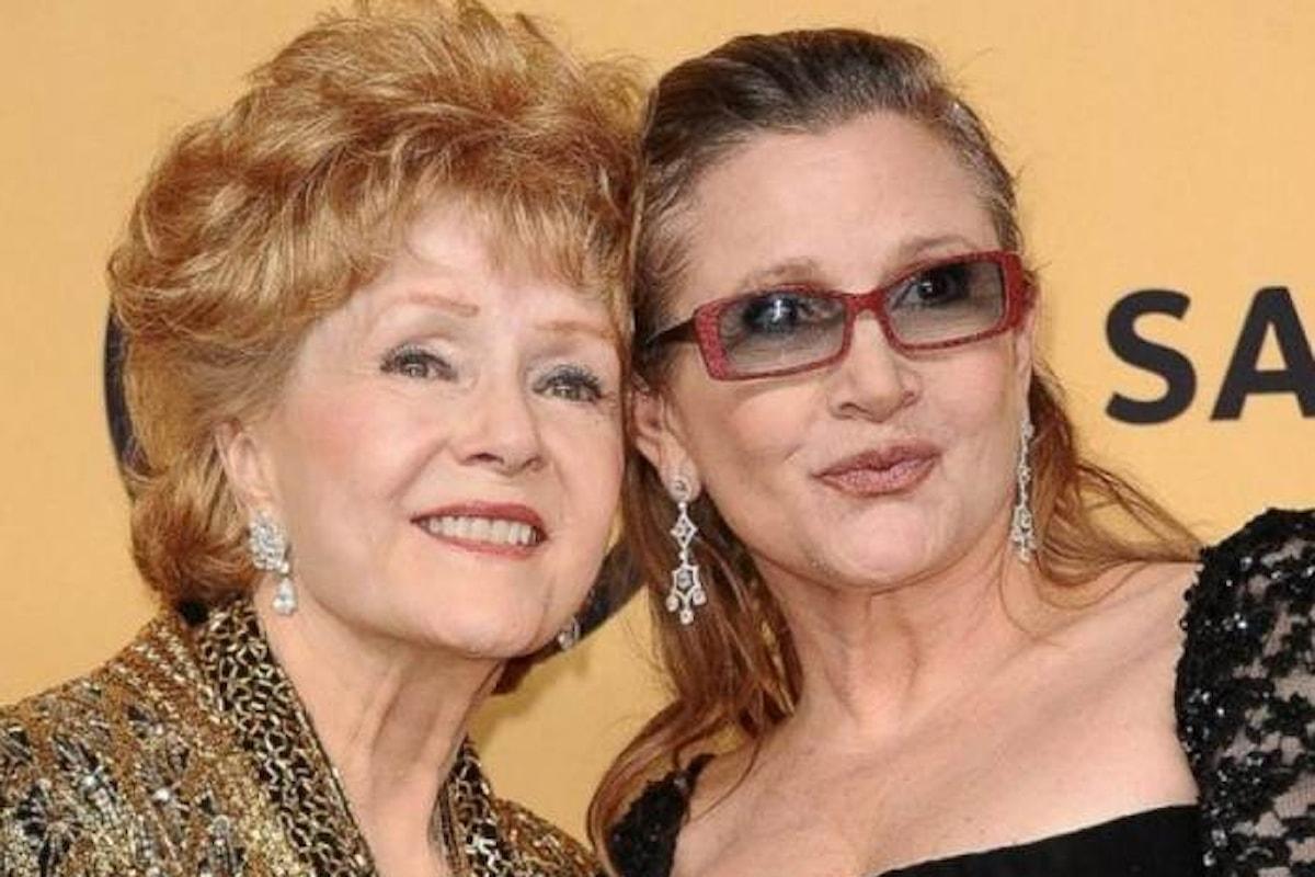 Debbie Reynolds non regge al dolore e muore 24 ore dopo la scomparsa della figlia Carrie Fisher