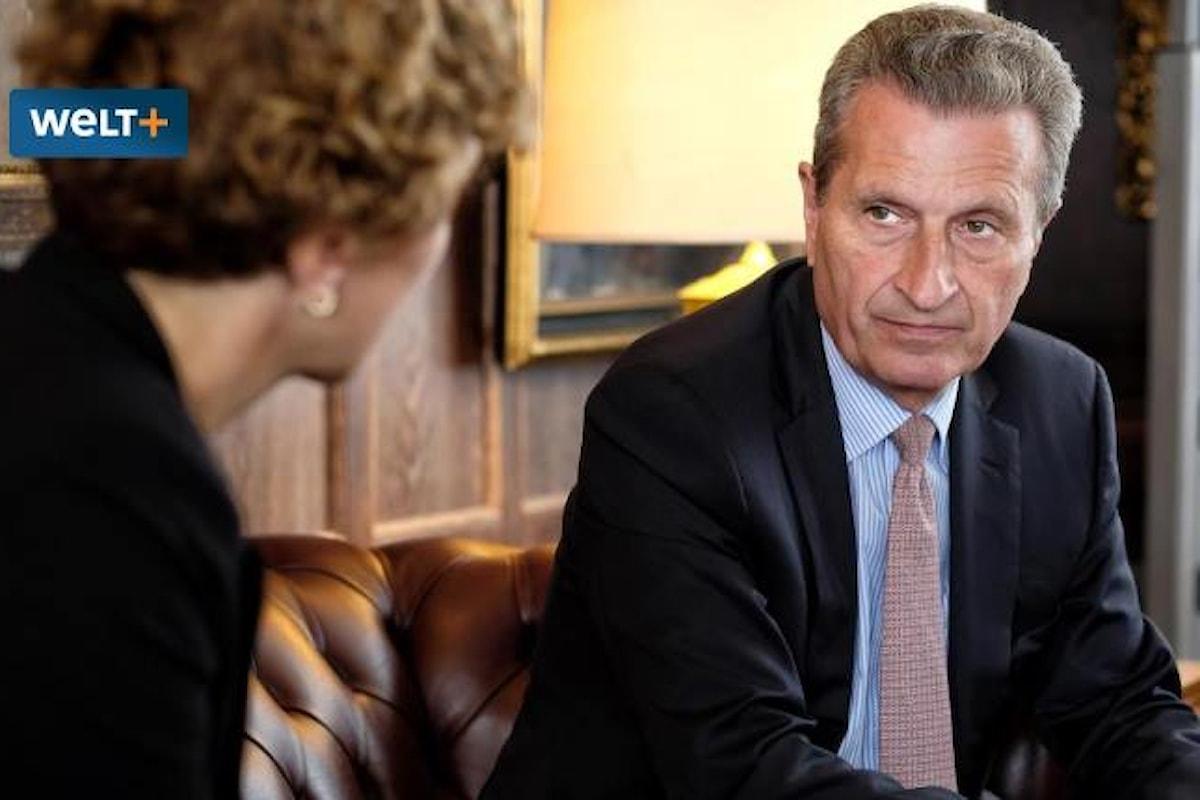 Guenther Oettinger, commissario al Bilancio, ipotizza sanzioni all'Italia se ostacolerà l'approvazione al bilancio dell'Ue. La risposta di Di Maio
