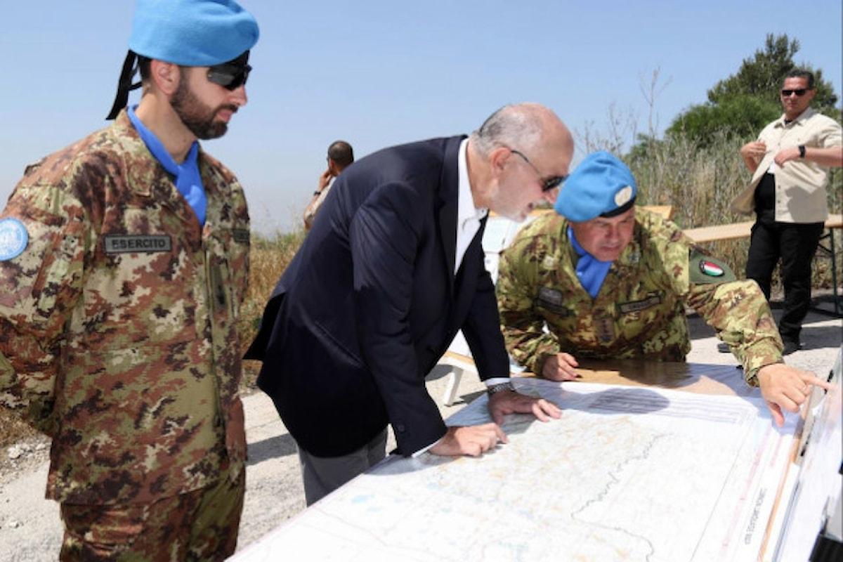 Libano:militari italiani sulla blue line con il Mine Action Support Group
