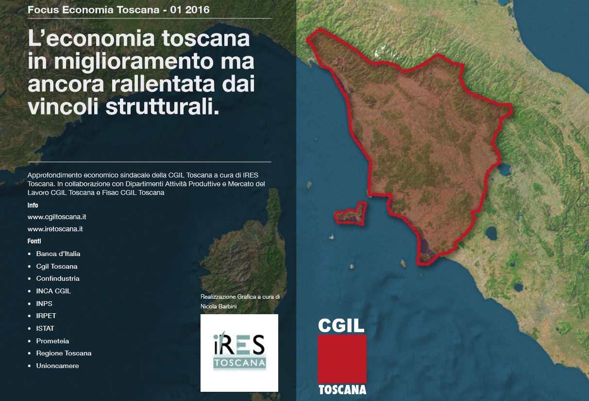 L'economia in Toscana nei primi tre mesi del 2016 nel rapporto Ires Cgil