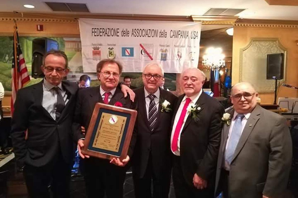 Rocco Colombo giornalista dell'anno: il premio delle Associazioni Campane in America
