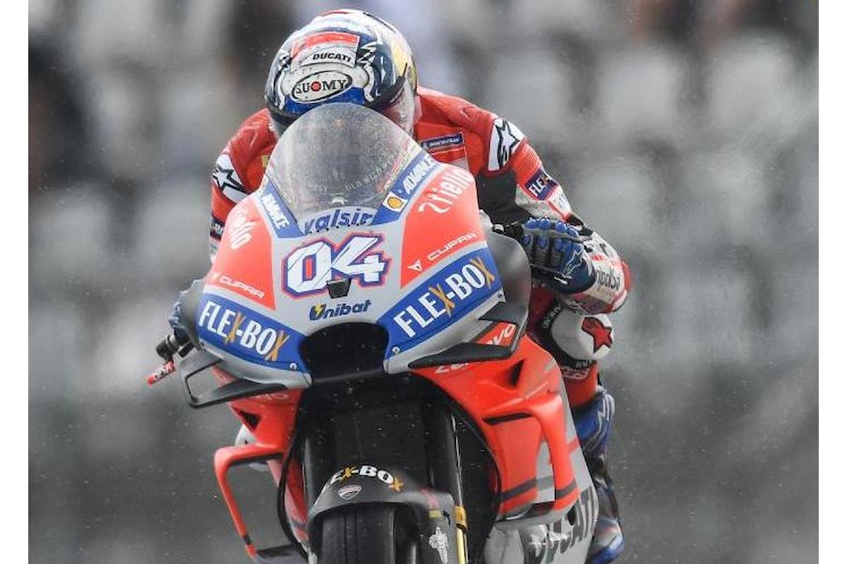 MotoGP, in Austria nelle libere del venerdì bene la Ducati al mattino, ma sotto l'acqua è Marquez il più veloce
