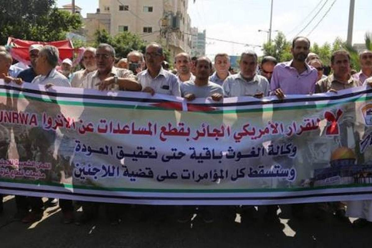 L'UNRWA sta morendo per volontà di Stati Uniti ed Israele. La protesta degli occupati