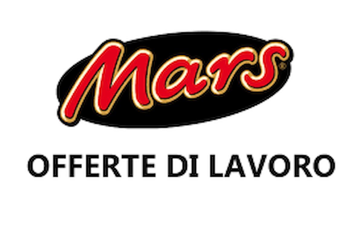 Anche il Gruppo Mars propone nuove assunzioni per il 2018.