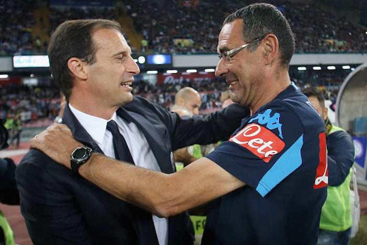 Sono sei i punti che dividono la Juventus dal Napoli, ma per Allegri e Sarri il campionato non è finito