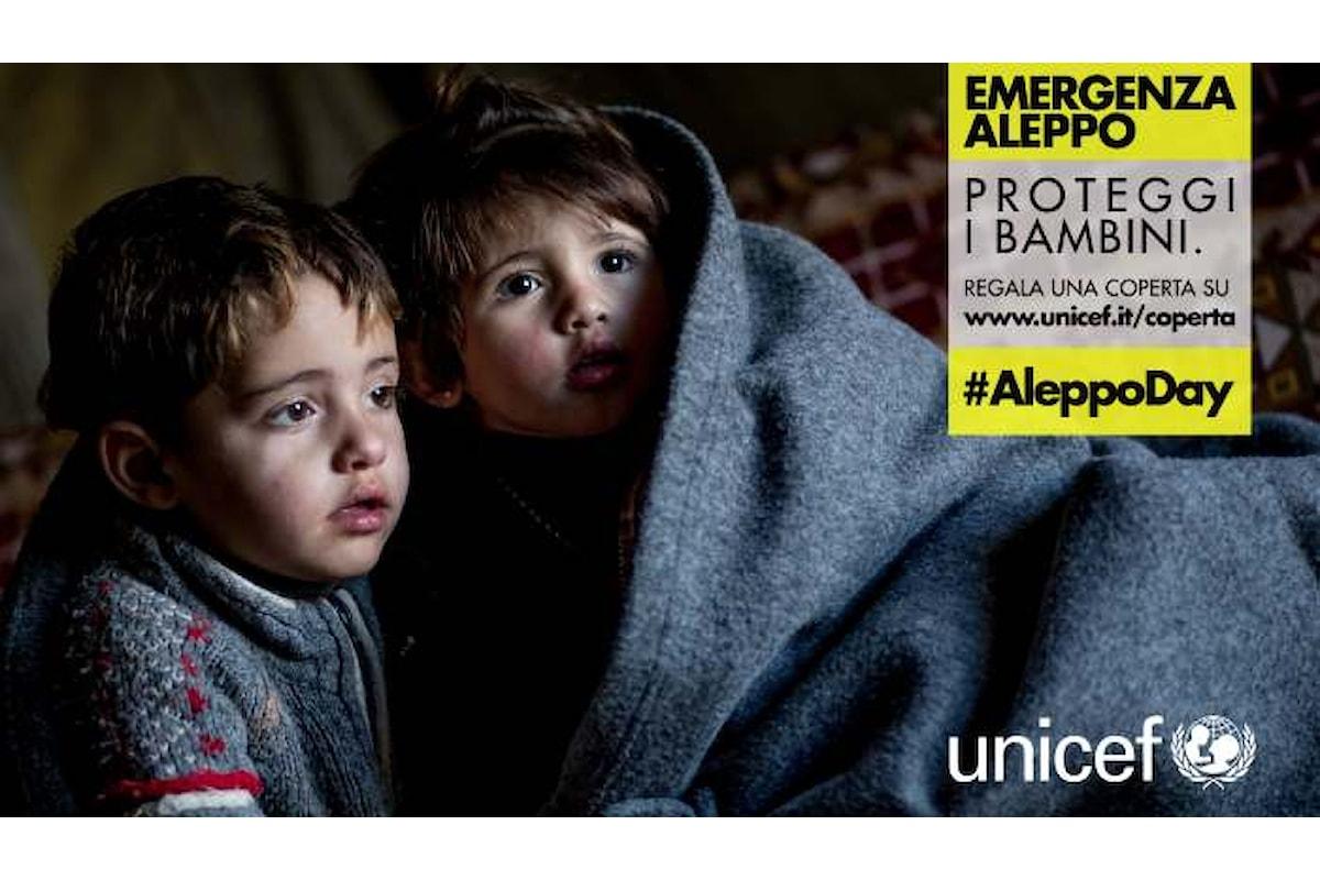 22 dicembre 2016, una coperta per Aleppo