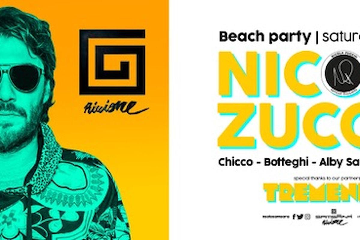 16 giugno, Nicola Zucchi al Samsara Beach di Riccione