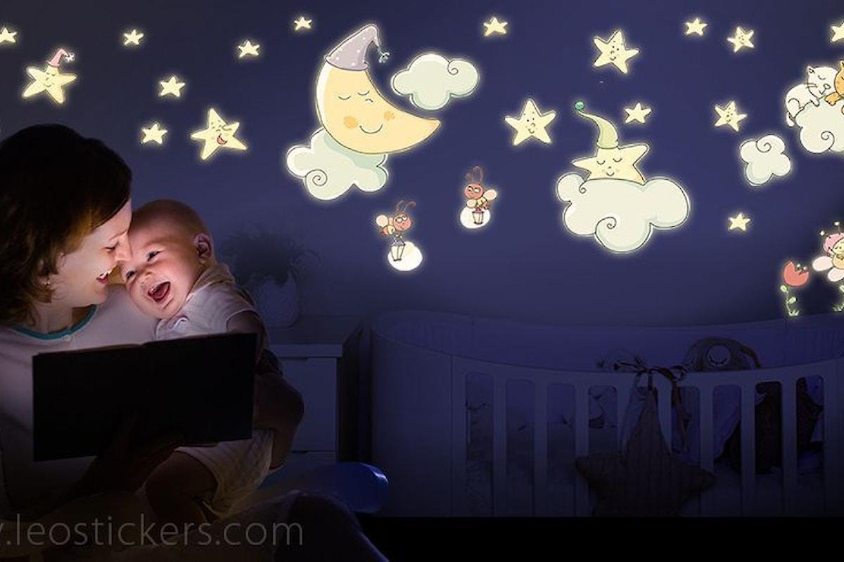Arrivano gli Illuminotti, adesivi murali che si illuminano di notte