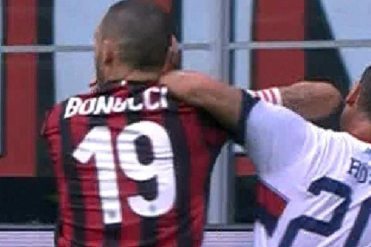 Milan, due giornate di squalifica inflitte a Bonucci