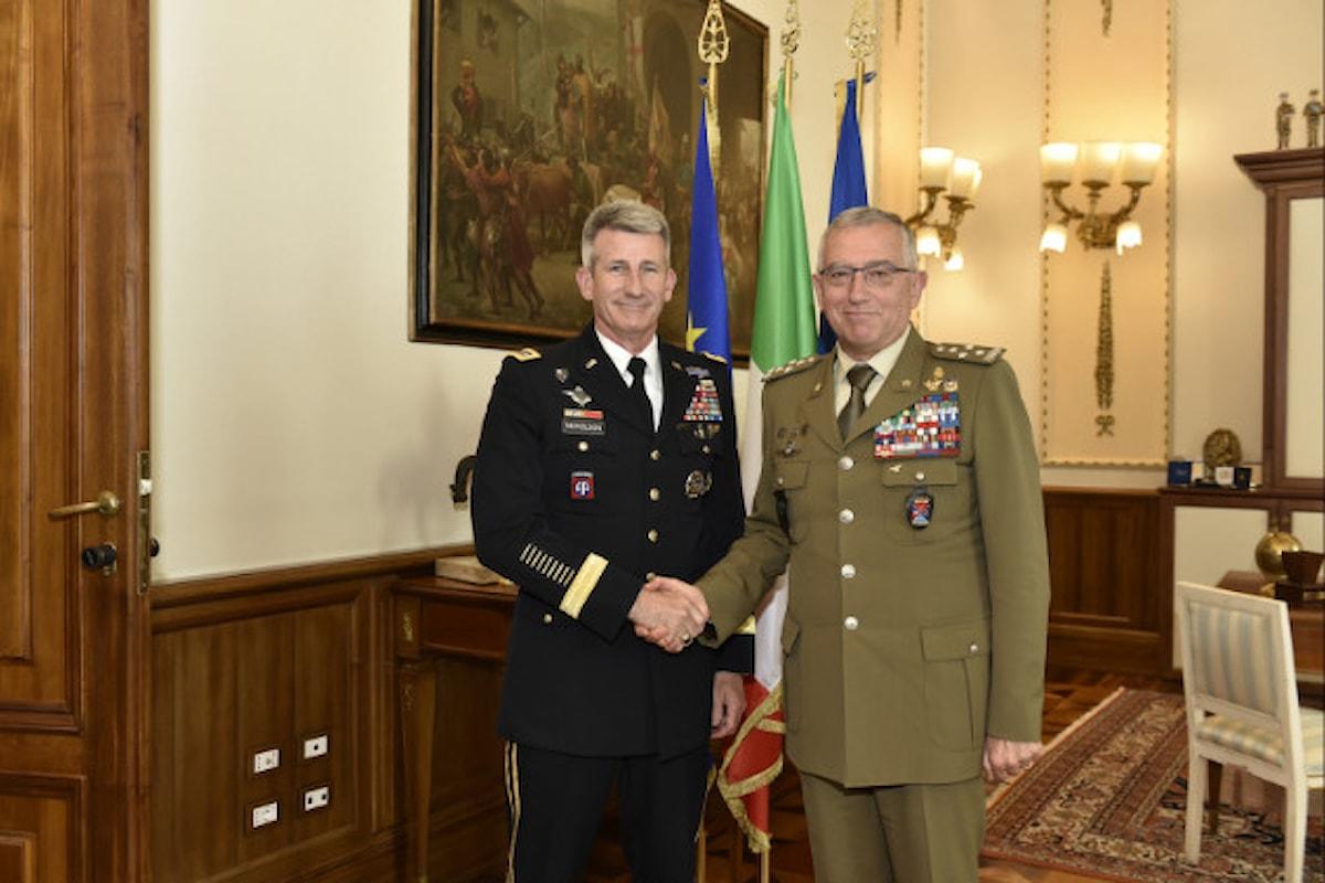 Roma. Generale Nicholson ringrazia i militari italiani per il loro operato in Afghanistan e riceve decorazione Interforze