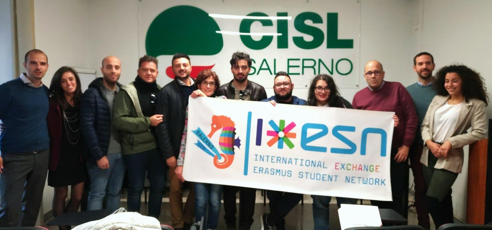 Importante sinergia tra la Cisl Giovani di Salerno e la ESN Salerno per lo sviluppo della città.