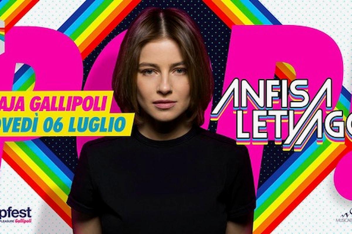 6 luglio, Anfisa Letyago al PopFest - People on Pleasure c/o Praja - Gallipoli (LE)