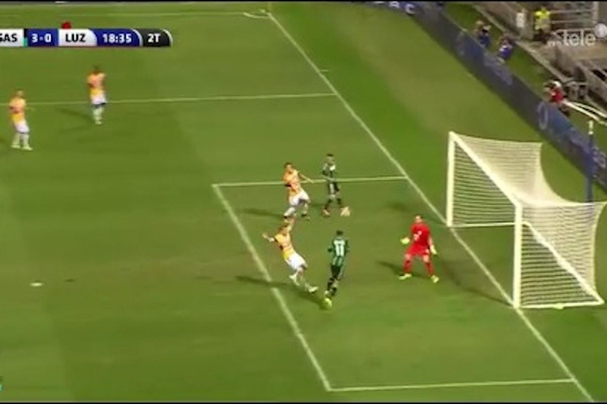 Il Sassuolo elimina il Lucerna dominando al Mapei Stadium. 3-0 con doppietta di Berardi e gol di Defrel