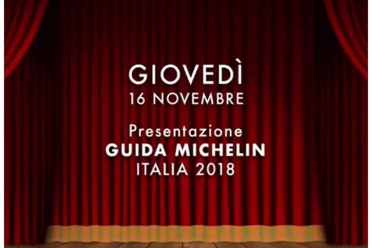 Il 16 novembre la presentazione della Guida MICHELIN Italia 2018