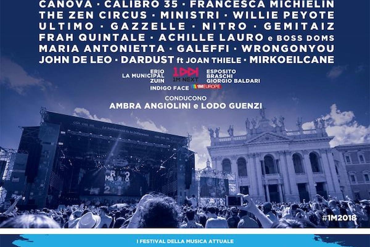 Concertone del primo maggio a Roma da p.za San Giovanni: confermato il cast con la conduzione di Ambra e Lodo Guenzi