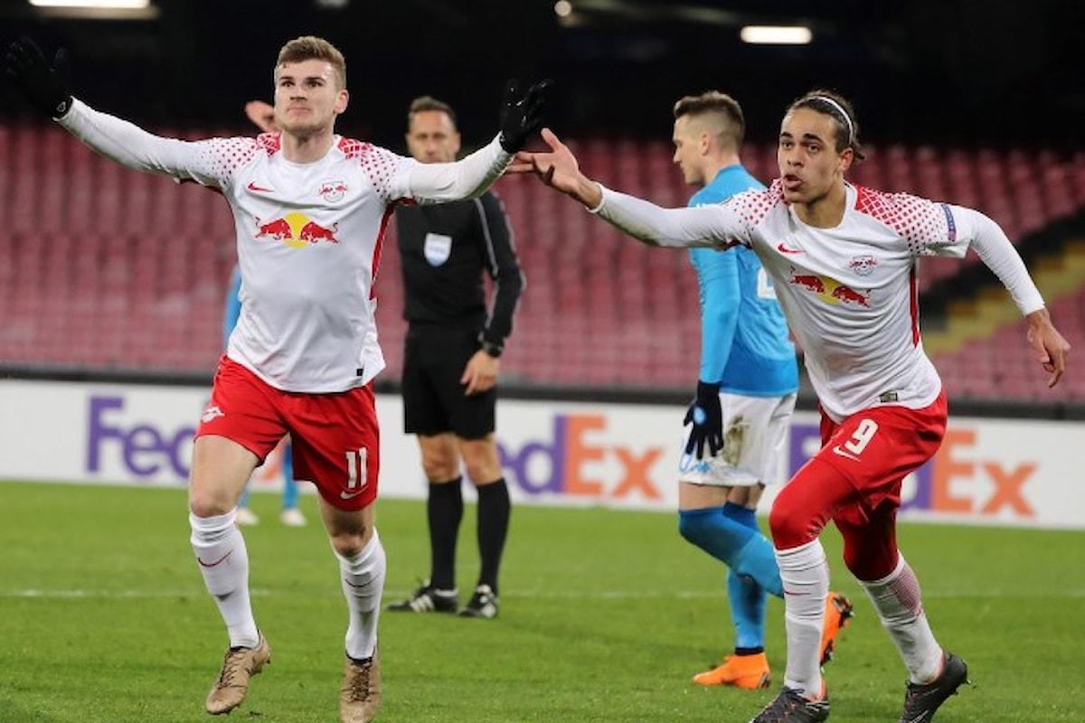 Il Napoli perde in casa 3-1 contro il Lipsia e mette a rischio il suo cammino in Europa League