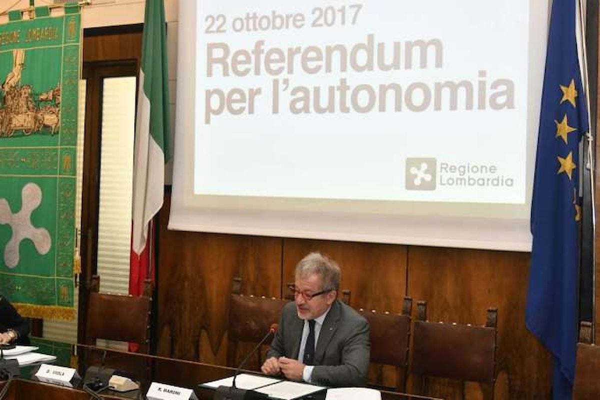 22 ottobre 2017. La Lega promuove un referendum per l'autonomia del Nord, raccontando bugie