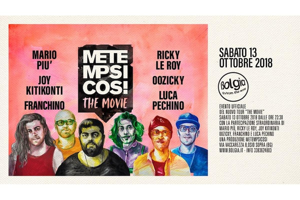 13 ottobre, Metempsicosi - The Movie al Bolgia di Bergamo