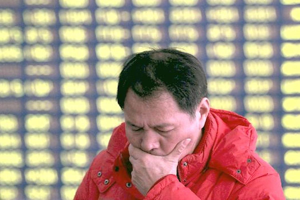 Continua il crollo del mercato finanziario in Cina. Forti cali anche nelle Borse europee