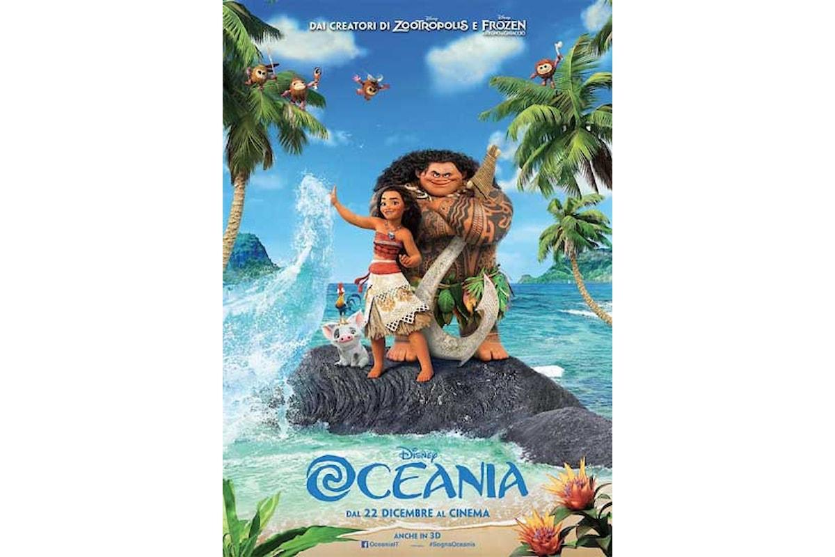 Recensione di OCEANIA, la nuova coloratissima favola Disney di Natale