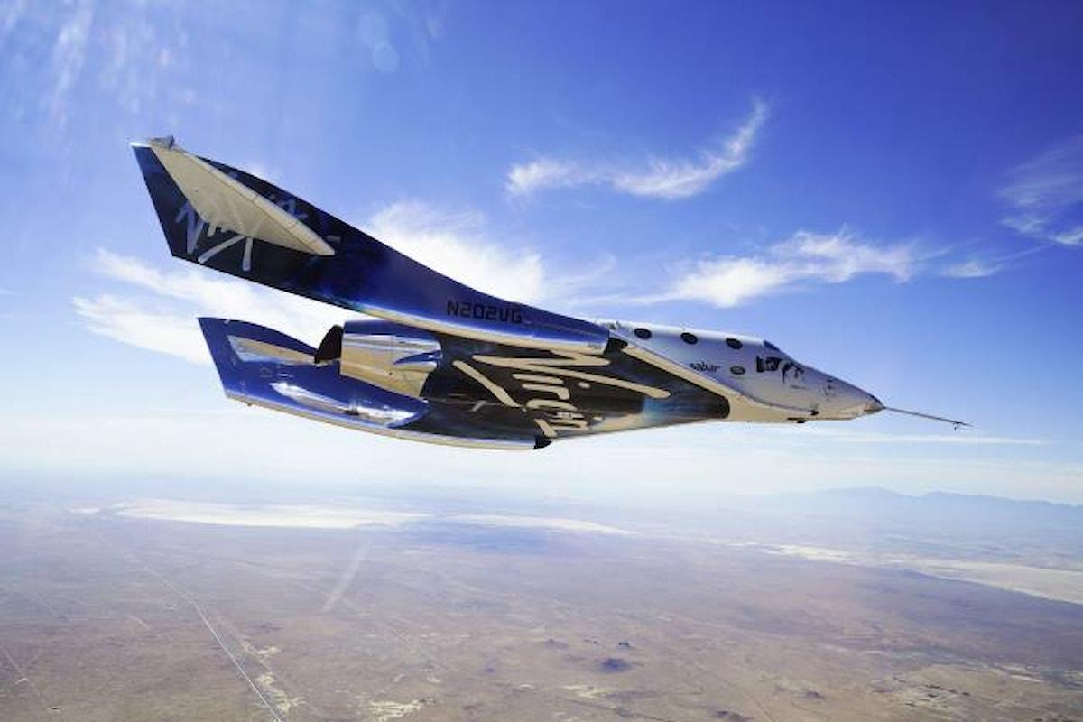 La Virgin Space Ship è arrivata nello spazio
