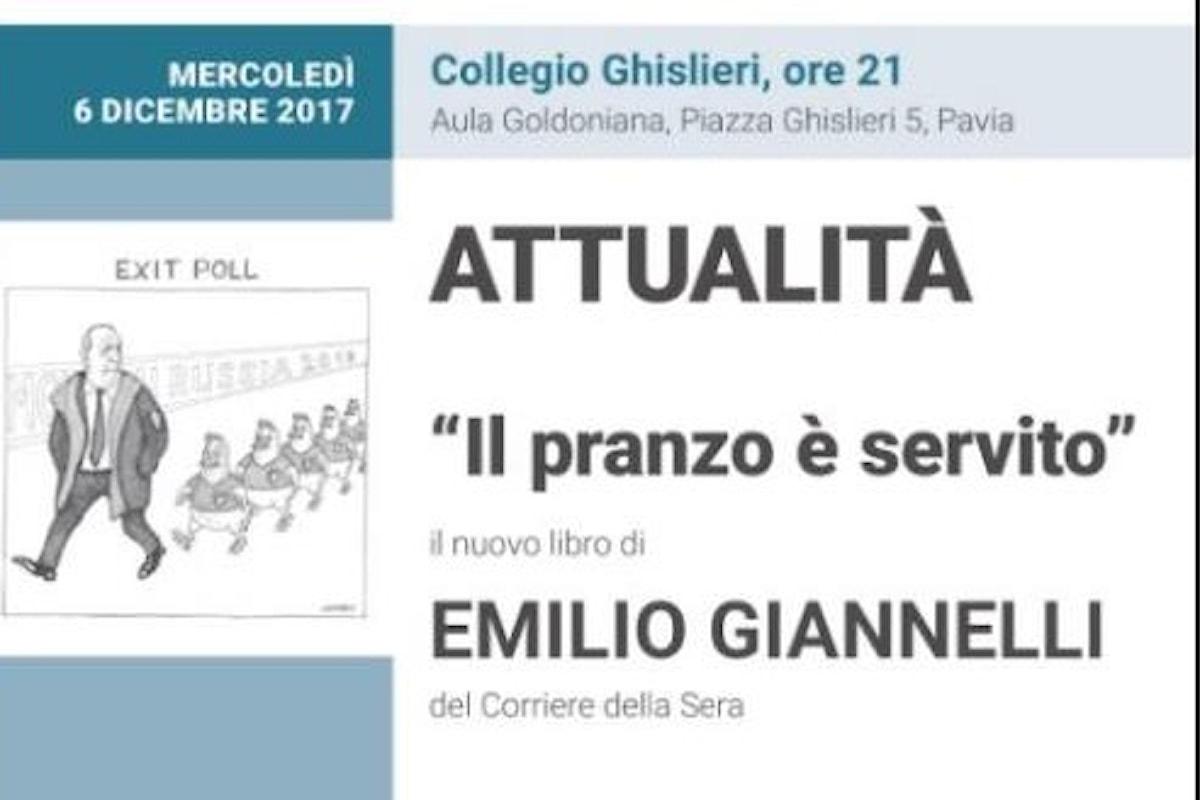 Emilio Giannelli al Ghisleri con IL PRANZO È SERVITO