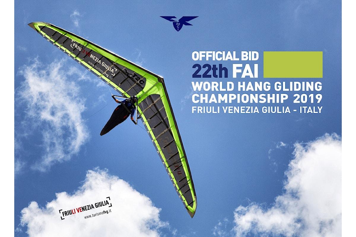 Assegnati i mondiali di deltaplano 2019 all'Italia ed al Friuli
