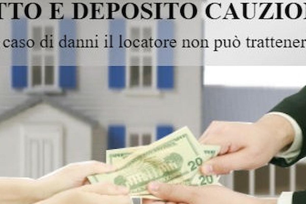Affitto e deposito cauzionale, in caso di danni non può essere trattenuto