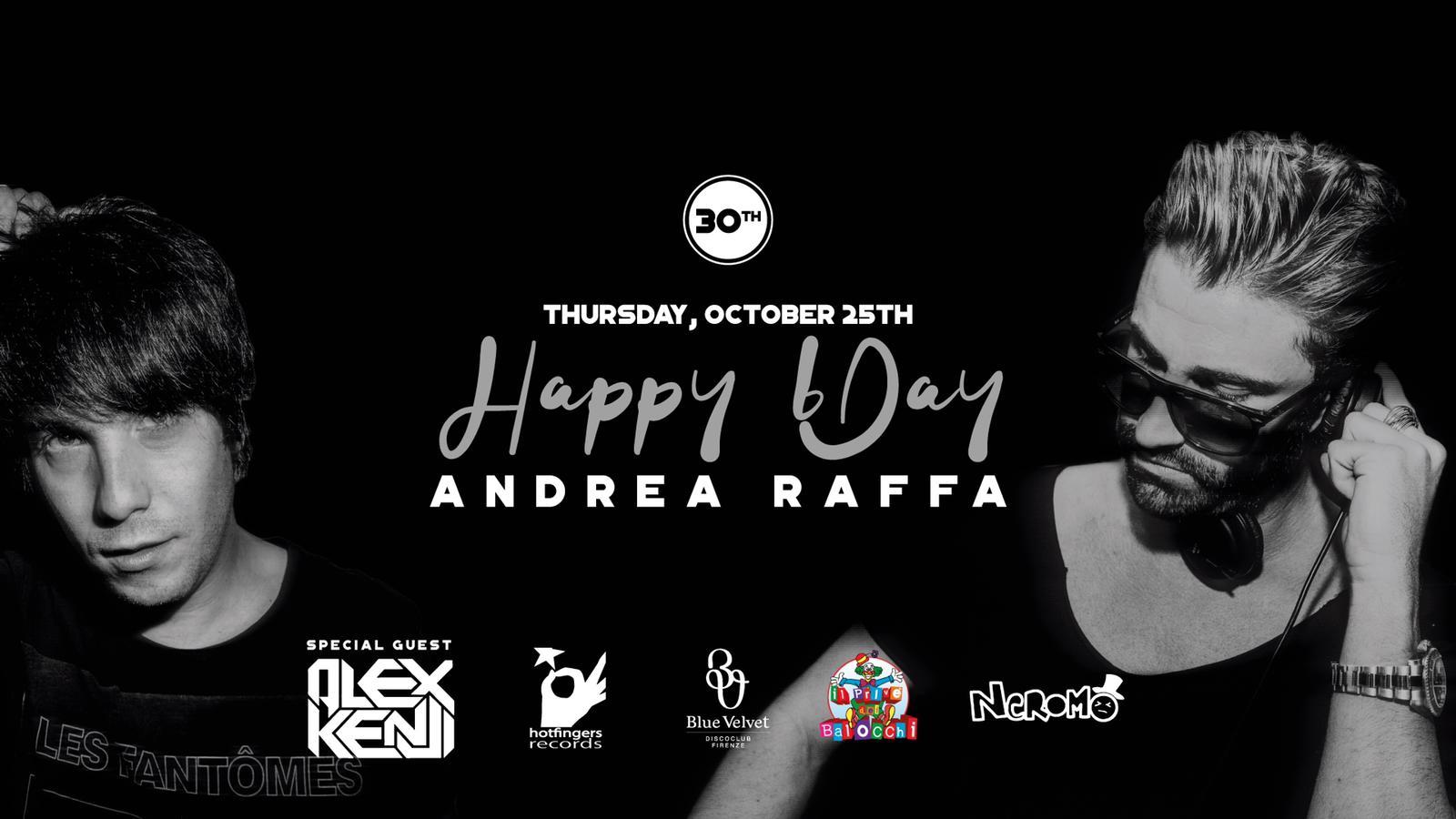25 ottobre, Raffa celebra il suo compleanno in console al Privè dei Balocchi c/o Blue Velvet - Firenze con Alex Kenji