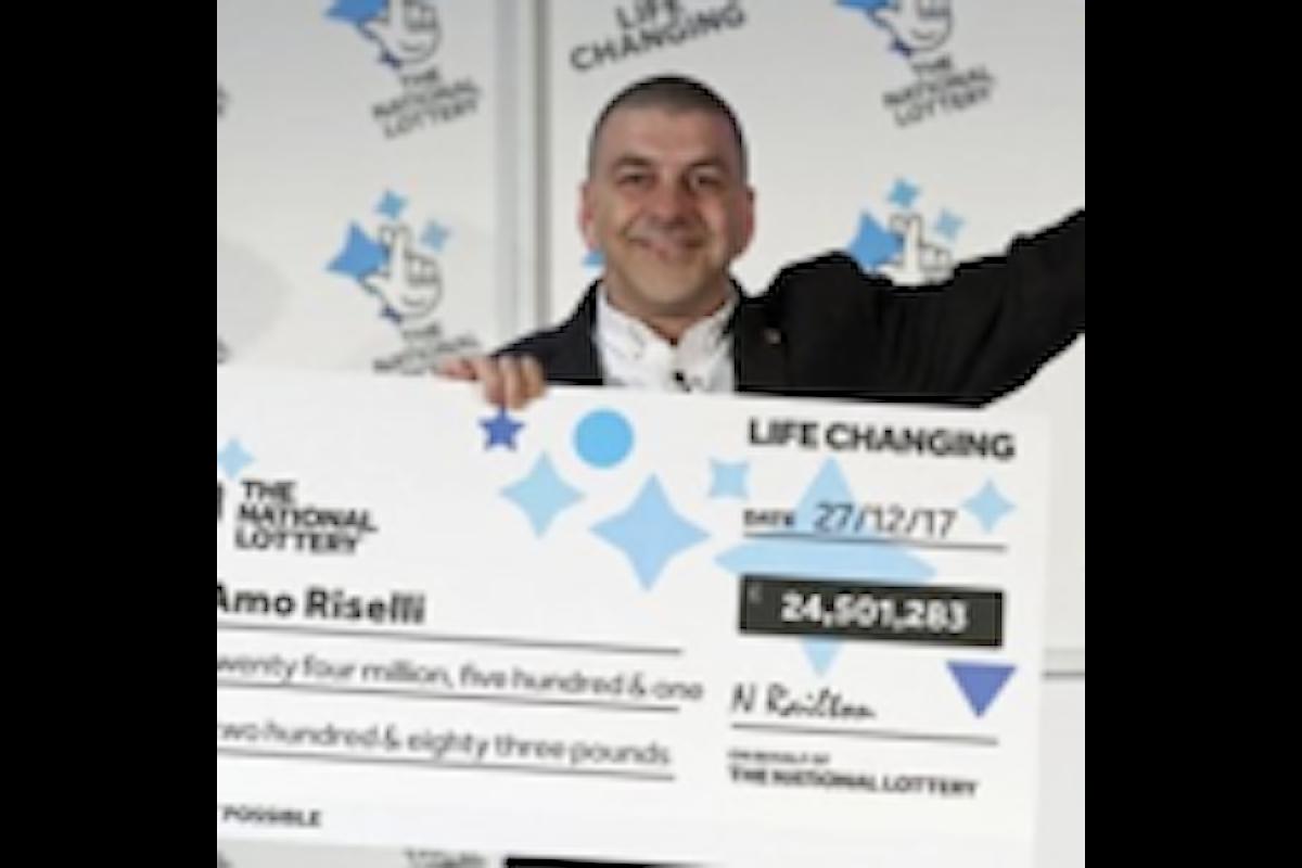 Il tassista di origini italiane diventato milionario alla Lotteria UK