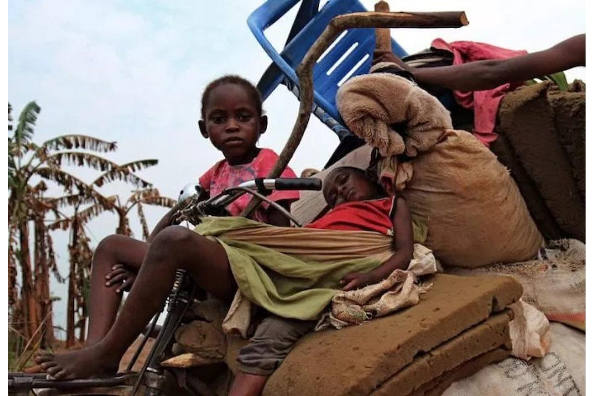 Congo, 400.000 bambini in fuga dal conflitto nel Kasai adesso rischiano di morire di fame