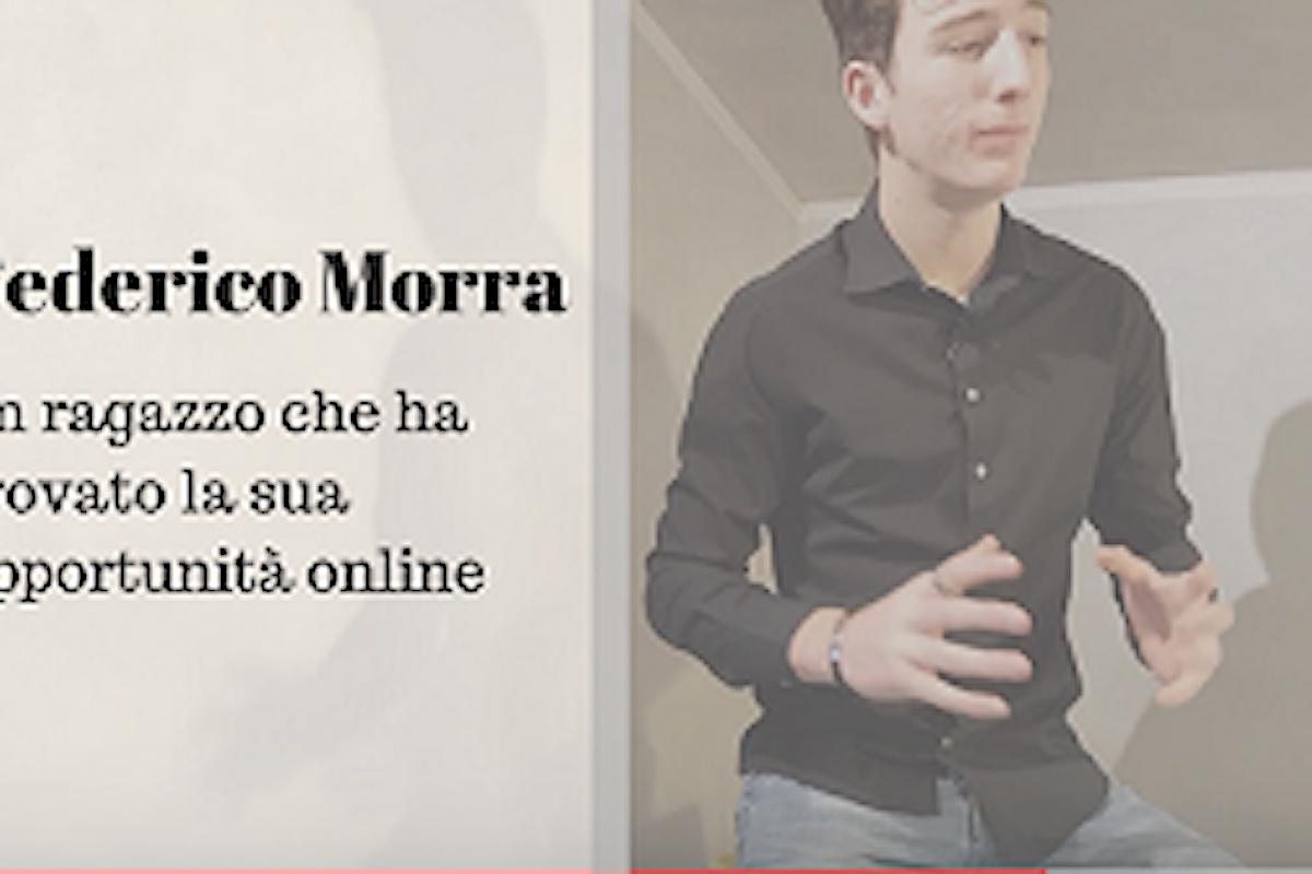 Federico Morra, un ragazzo che ha trovato la sua opportunità online
