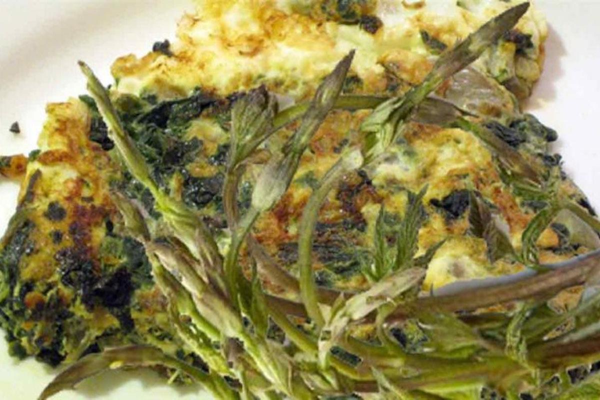 Idee per Pasqua: frittata con asparagi selvatici