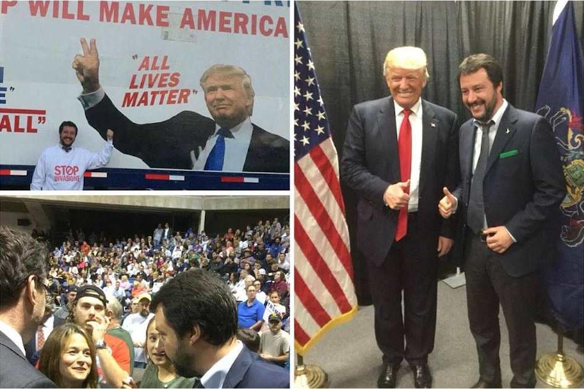 Salvini vola in America per complimentarsi con Trump