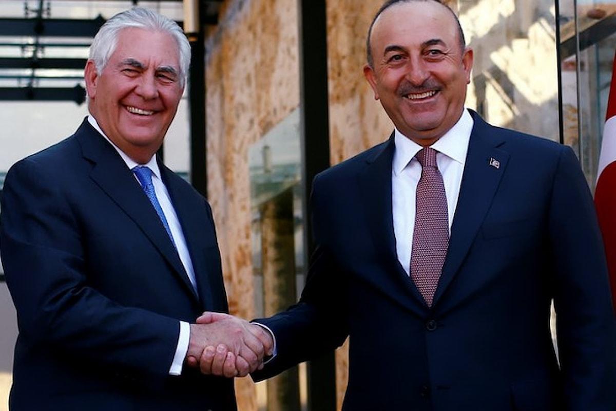 Tillerson chiude la visita in Turchia abbandonando i curdi del nord ovest della Siria nelle mani di Erdogan
