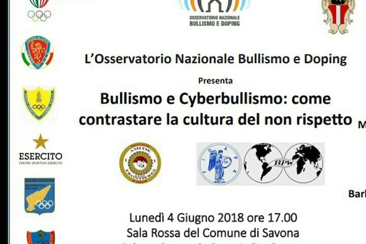 Bullismo e Cyberbullismo, come contrastare la cultura del non rispetto, se ne discute a Savona il 4 giugno con la partecipazione di Vincenzo De Feo (... prima del CLICK)