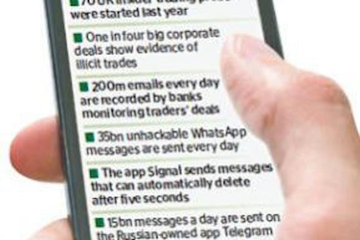 FBI in azione: a Wall Street si fa insider trading sfruttando WhatsApp