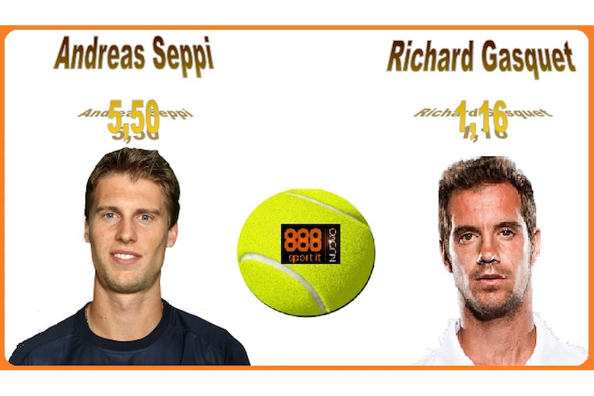 Internazionali Tennis: Seppi a 5,50 contro Gasquet