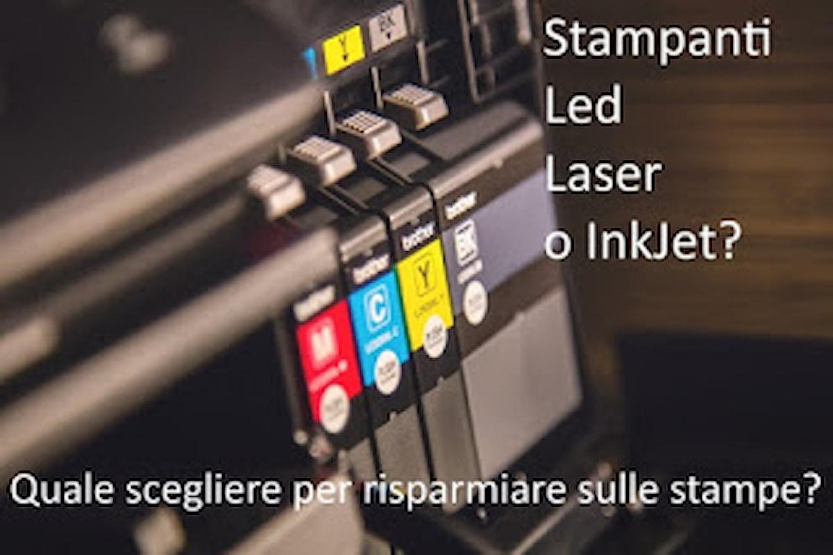 Costo di Stampa: meglio una stampante Led, Laser o a Getto d'Inchiostro?